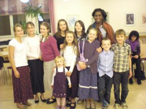Sister Ify with Children