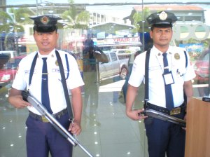 Armed Guards at the Bank