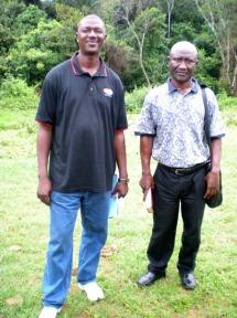 Alphonso Kandakai (R) & Joseph Zubah (L)