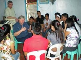03 Jim w Musicians at Bible School
