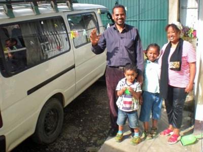 Fikre, family & van 1