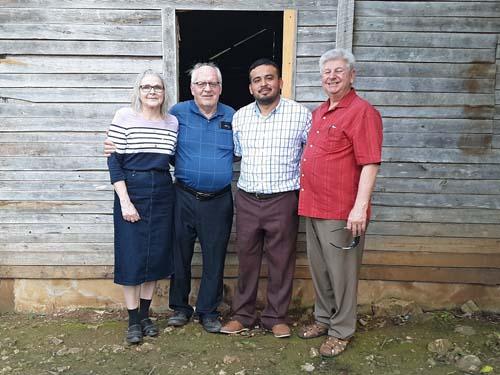 Rita, Mark, Livanio, and Jim at Belmopan